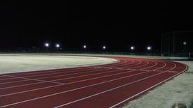 平川市陸上競技場夜間照明